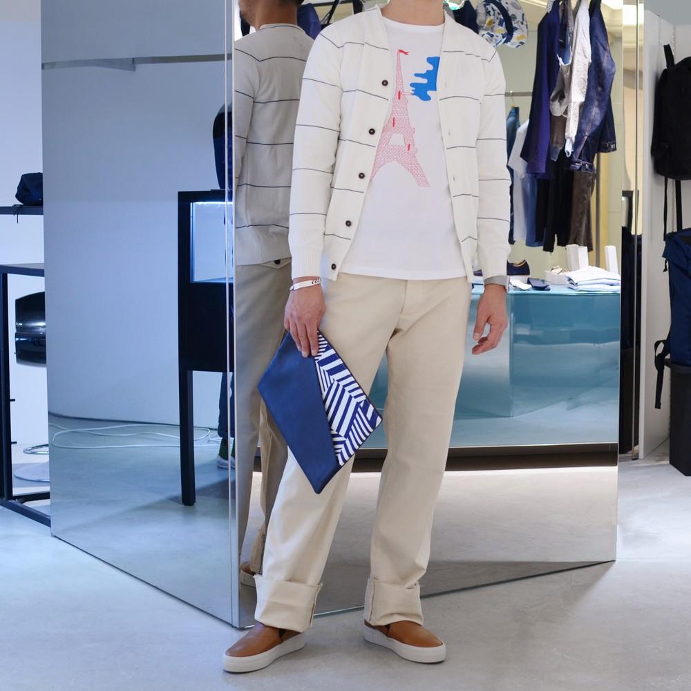 然りげ無く着る<BR>COMMUNE DE PARIS(コミューン・ドゥ・パリ)  ニット1型・シャツ1型・ネクタイ1型・ショーツ1型