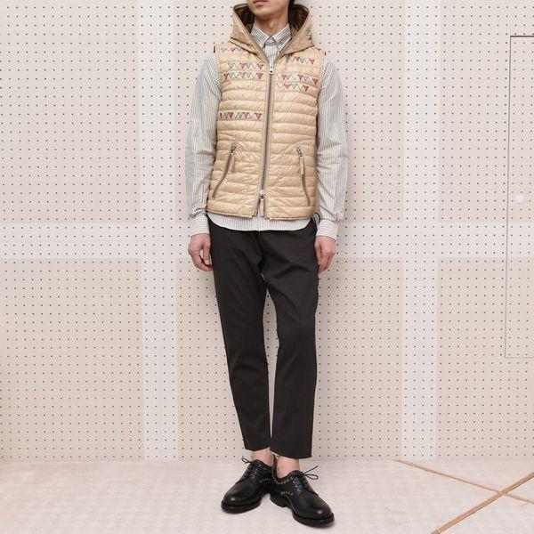 「拘り」<BR>  DUVETICA(デュベティカ)×jimi roos(ジミ ルース) ・jimi roos(ジミ ルース) ダウンベスト・刺繍Tシャツ4型