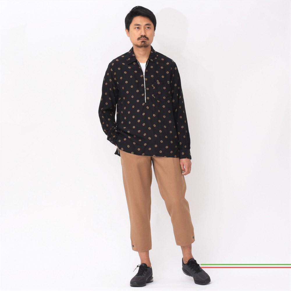 レトロフューチャー<BR> Mando(マンドー)ハーフジップシャツ1型・ノーカラーリバーシブルブルゾン1型