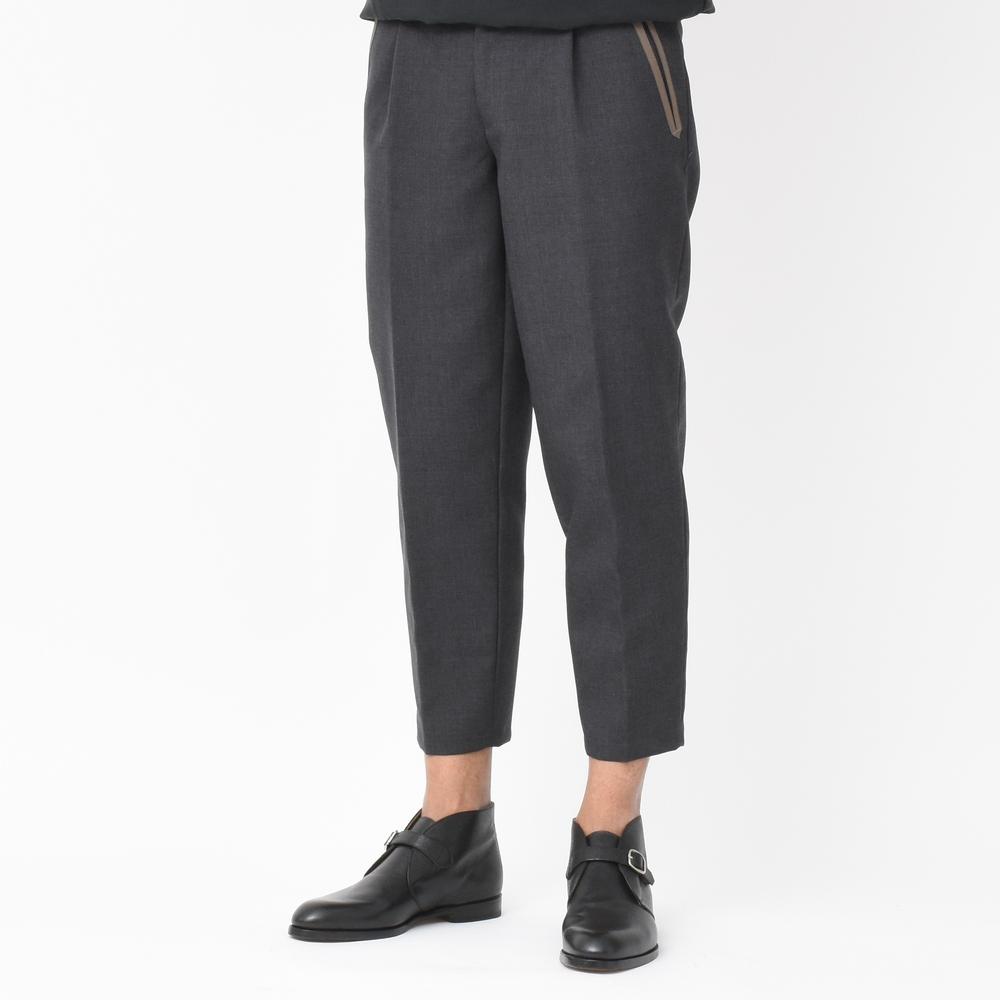 キーワードはパッチワークです!<BR>kolor(カラー)<BR>ボンディングパンツ・ワイドパンツ・ニットジャケット・ニット襟シャツ