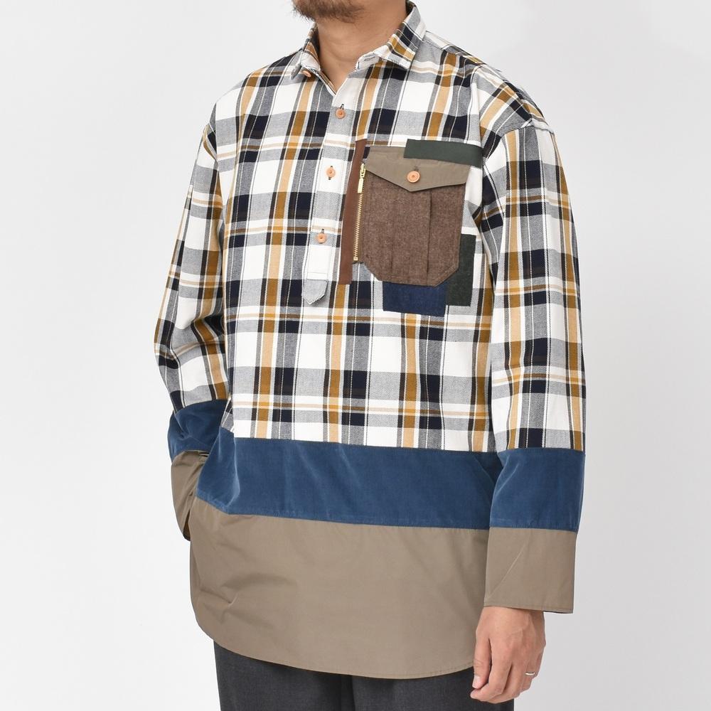 balcone(バルコーネ)の2017年秋冬はこのブランドからスタートです!<BR>kolor(カラー)<BR>パッチワークシャツ・ウールコート・ジャージフードブルゾン・ソックス