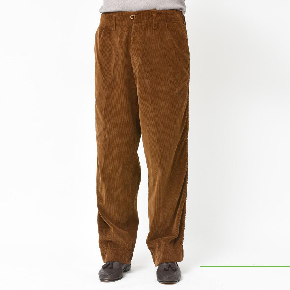 kolor BEACON(カラー ビーコン)<BR>コーデュロイパッカリングパンツ・ウエストコードサキソニーウールクロップドパンツ・ポリエステルコーチシャツ