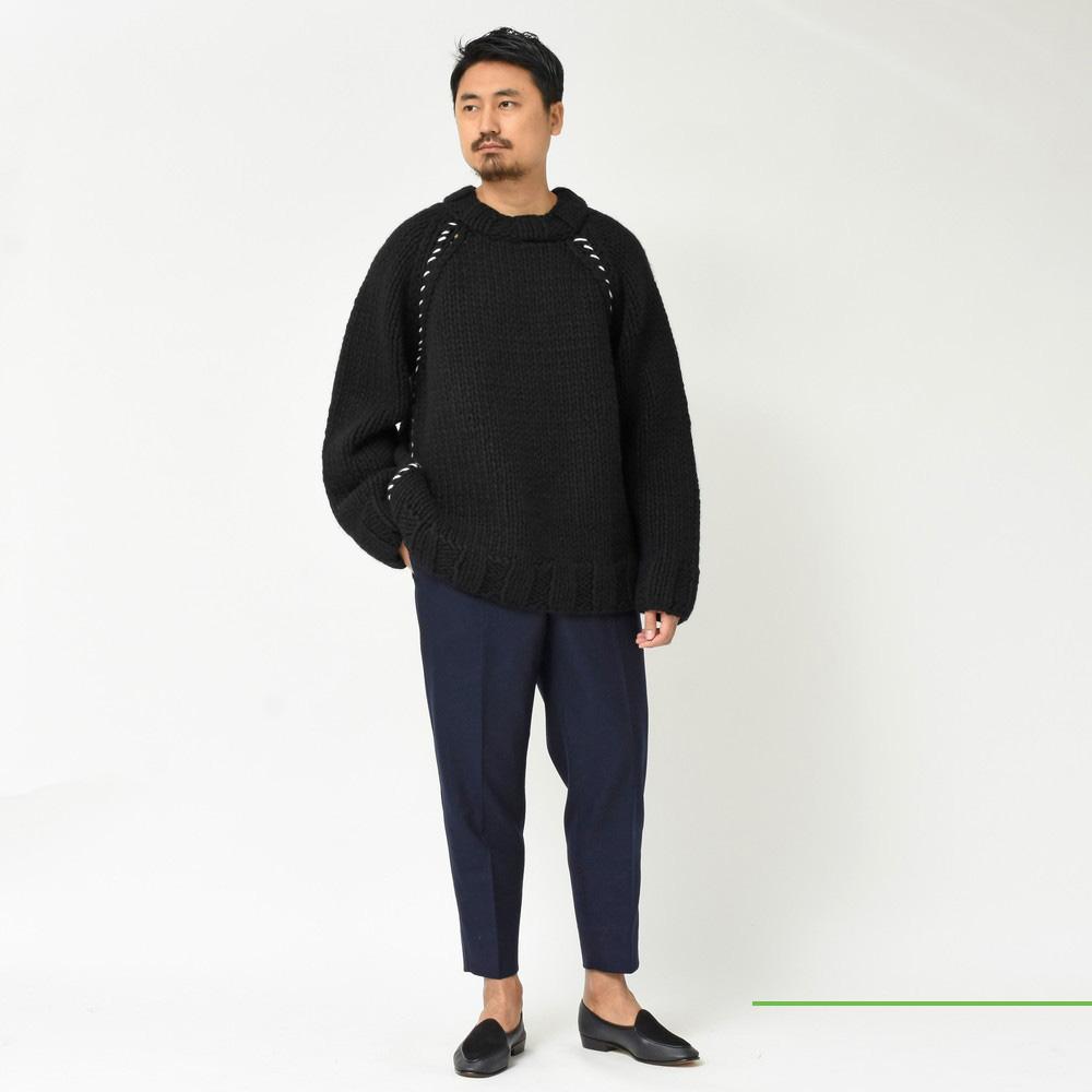 MARNI(マルニ)<BR>ボーダーニット・ローゲージニット・ネイビーパンツ・ベージュパンツ・切り替えシャツ<BR>2018fwCollection!
