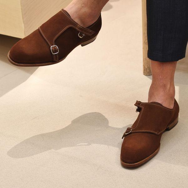孤高の良靴。<br>F.LLI Giacometti(フラテッリジャコメッティ)<br>カーフスエードダブルモンク&カーフレザーグルカシューズ!!