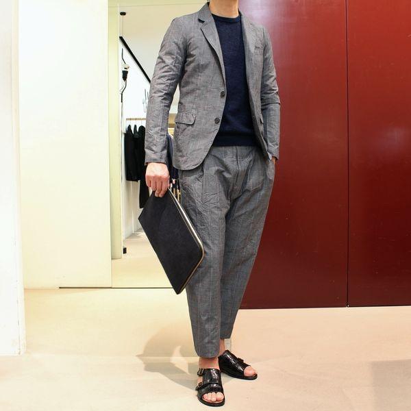 時代の先をいく!!②&大阪店休館日のお知らせ<BR>Mando(マンドー) グレンチェックジャケット&サルエルパンツ&ボンディングパーカー
