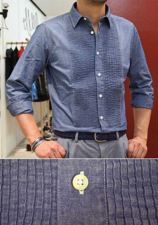 新規ブランドはBOLZONELLA(ボルゾネッラ)<BR>シャンブレーシャツ3型