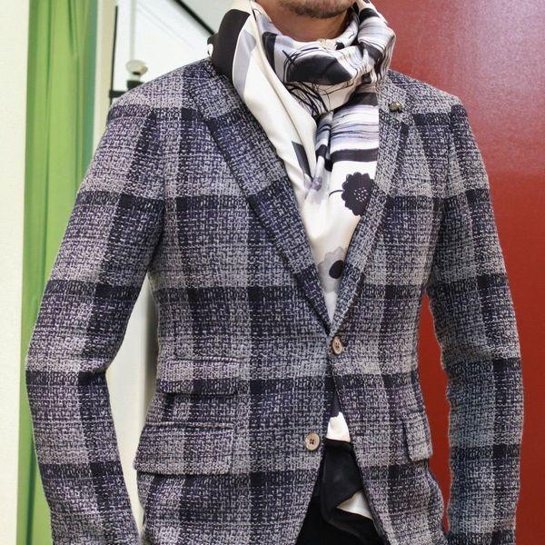 ファッションとアートの融合はリベラルです!<BR>PIERRE LOUIS MASCIA(ピエール ルイ マシア) Wフェイス大判ストール&バックパック&クラッチバッグ&ポケットチーフ
