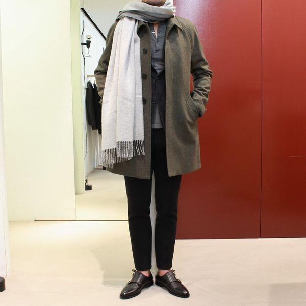 自分ならではのパフォーマンス<BR>MAURO GRIFONI(マウロ グリフォーニ) バルカラーコート&ヘリンボン織りWジャケット&グレンチェックジャケット&シャーリングパンツ