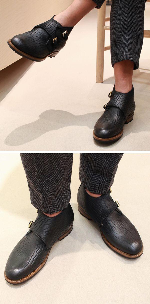 気合いの1型1色展開‼<BR>F.LLI Giacometti(フラテッリ ジャコメッティ) アザラシ革Wモンクブーツ