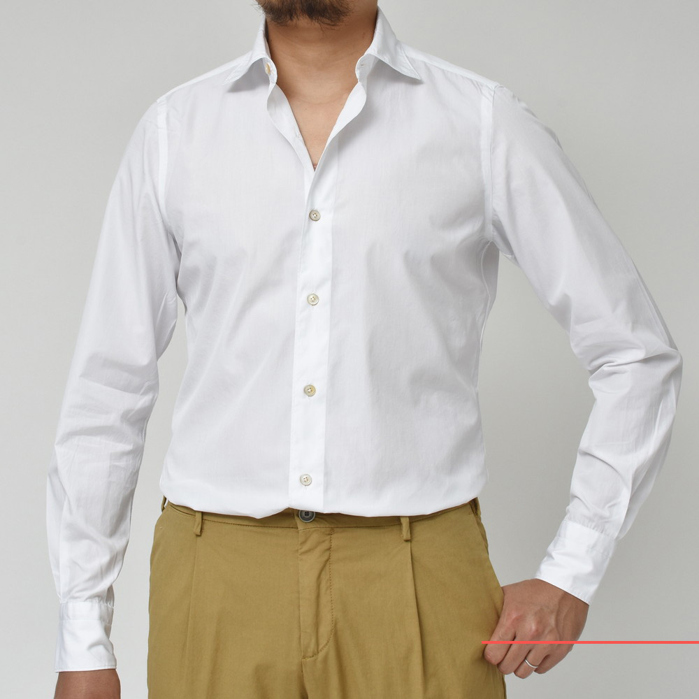 今年はちょっとだけカラフルです!?<BR>Finamore(フィナモレ) ウォッシュドシャツ LUIGI(ルイジ) 6型