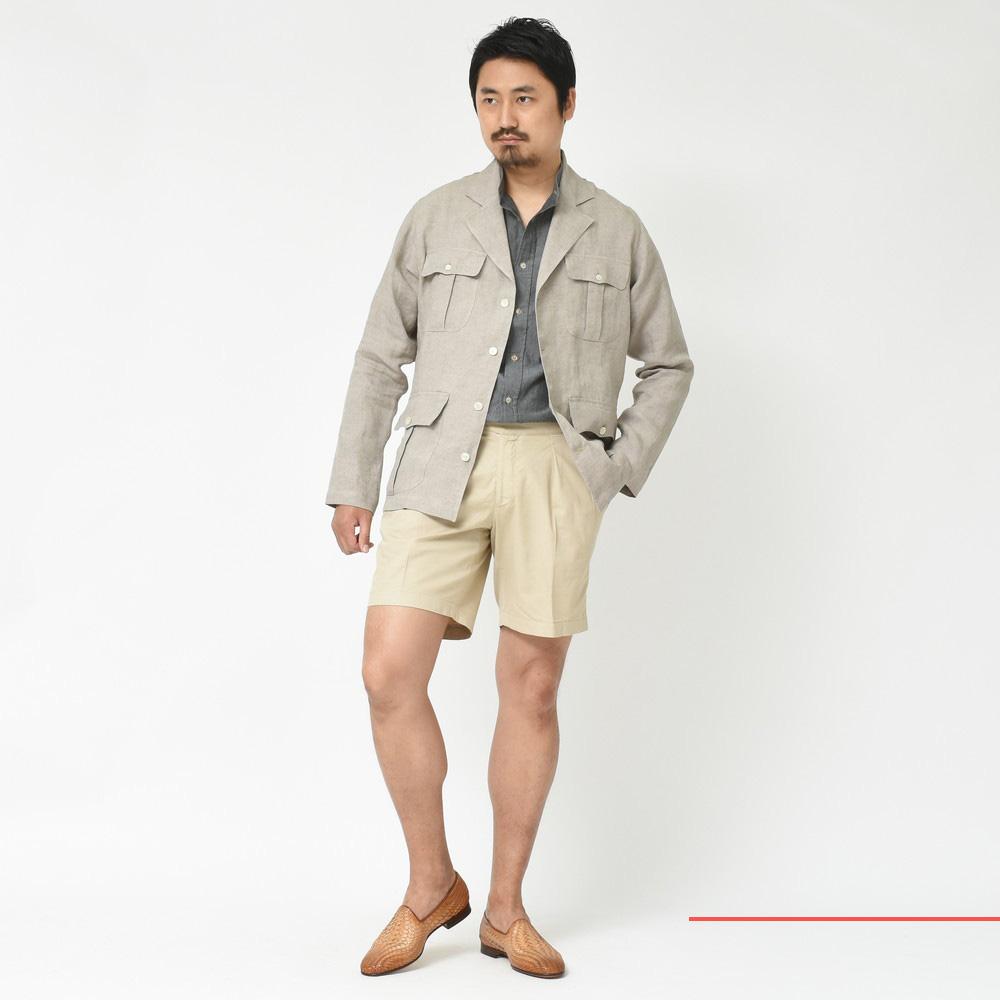上品なコロニアル!?<BR>Finamore(フィナモレ)リネンシャツジャケット