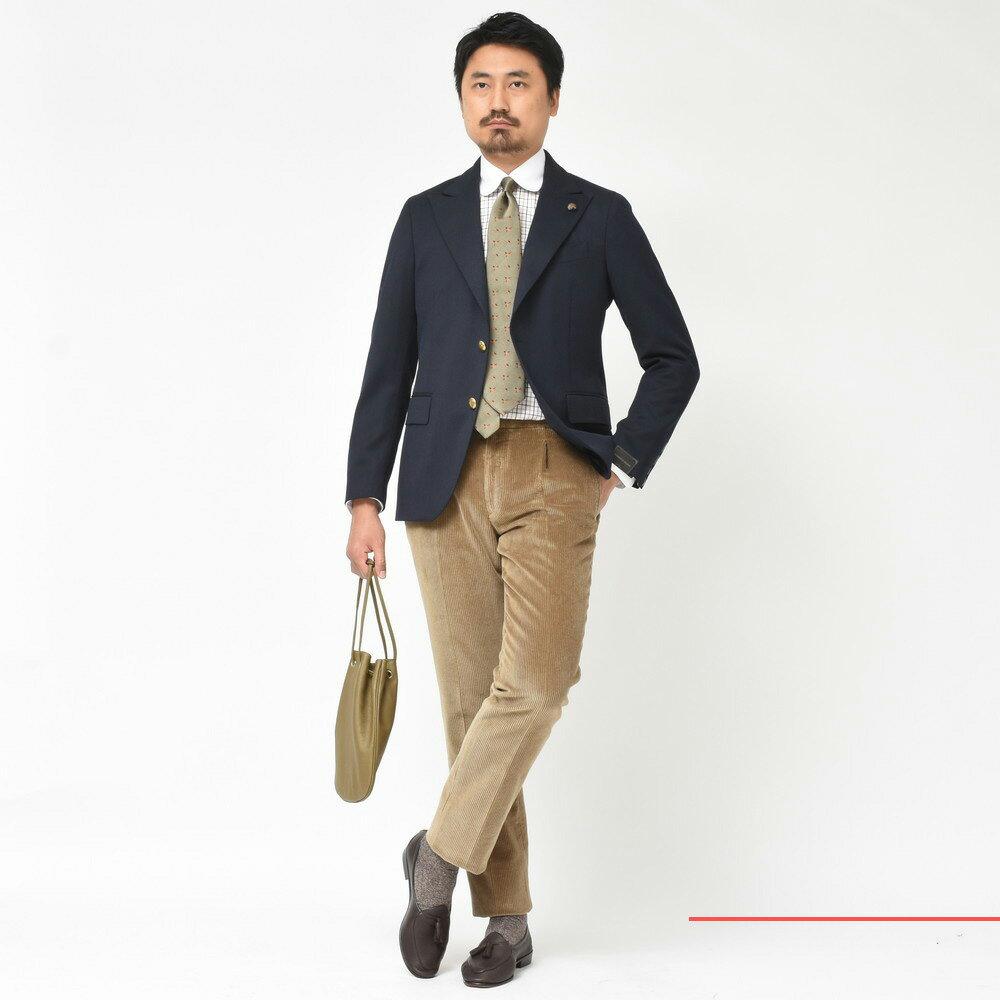 Gloss of British!<BR>GABRIELLE PASINI(ガブリエレパジーニ)ピークドラペルジャケット・3ピーススーツ