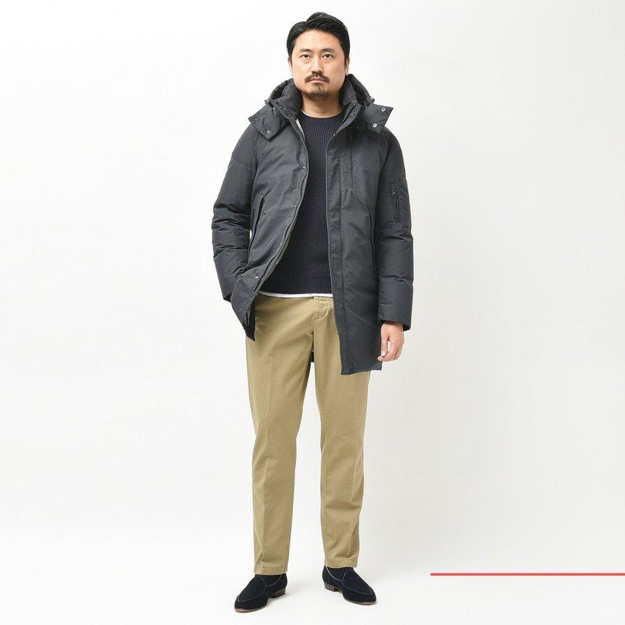 ロング丈&フード付き縛りのダウンコート!!<BR>DUNO(デュノ) アウター3型