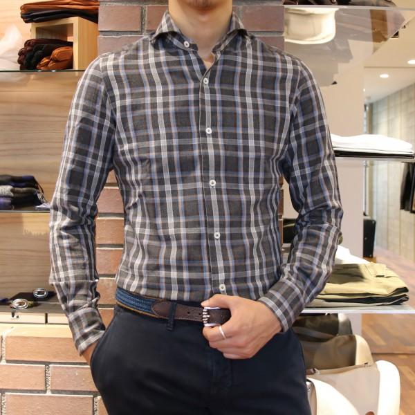 抜かりなく柄物もご用意しております!!<br>Giannetto(ジャンネット)シャツ2型