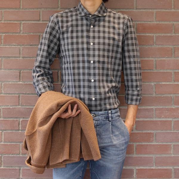 丸くなりました!<br>Giangi(ジャンジ)シャツ2型
