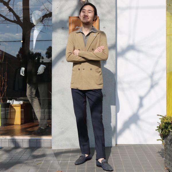 春夏の必須アイテム<BR>LARDINI(ラルディーニ)ニットジャケット1型