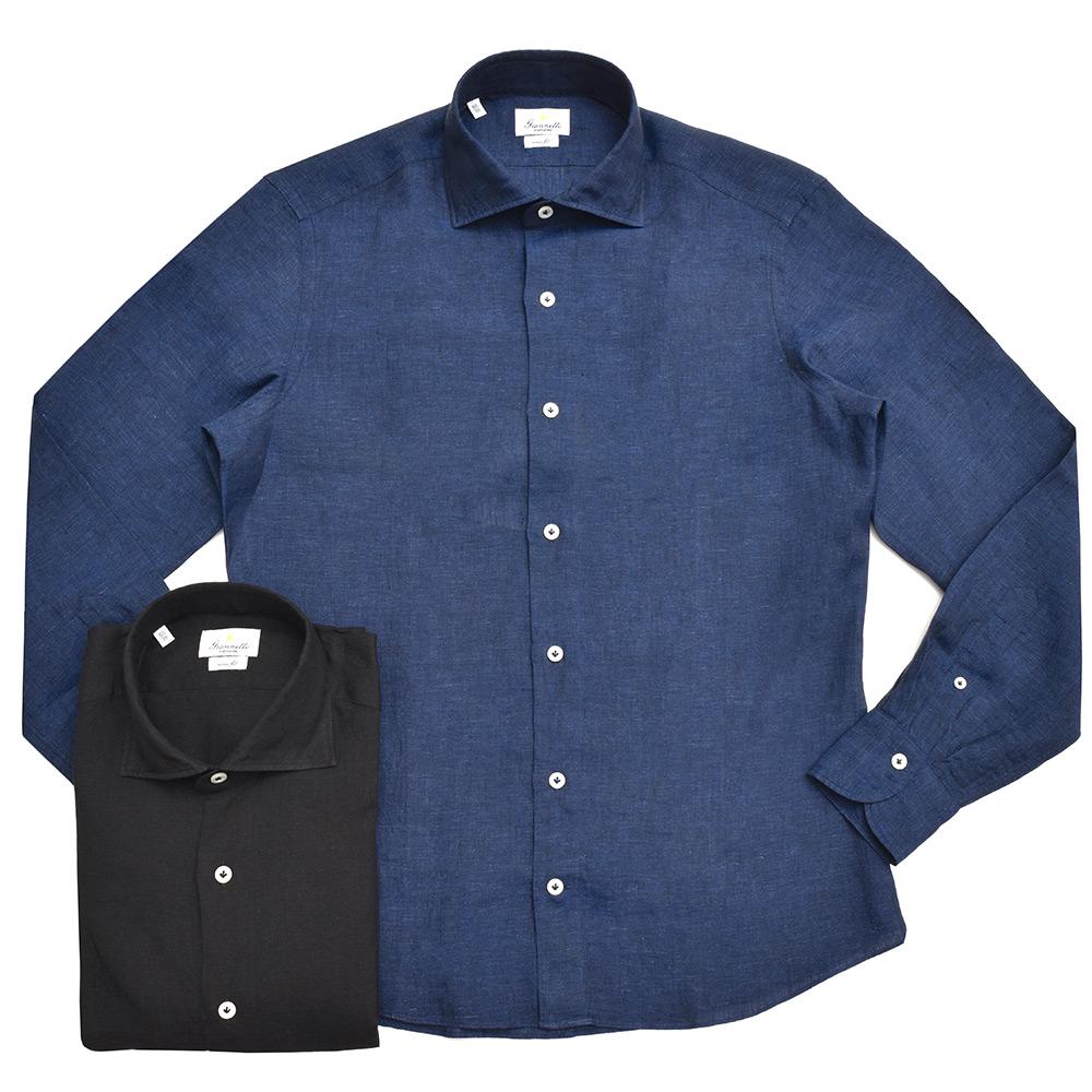 シャツから先に感じる春夏シーズン<BR>Giannetto(ジャンネット)リネンシャツ2型