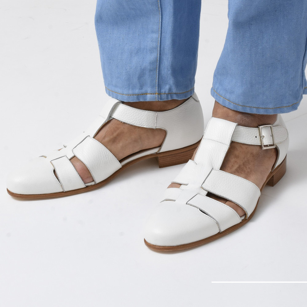 サンダル以上革靴未満な夏の足元<BR>FERRANTE(フェランテ)シューズ1型