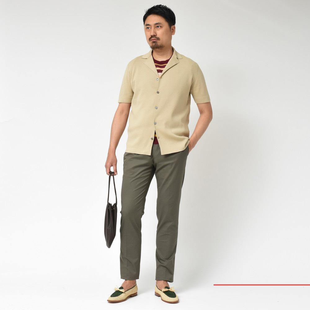 ジャケットとシャツの良いとこ取り<BR>LARDINI(ラルディーニ)ニットシャツ1型