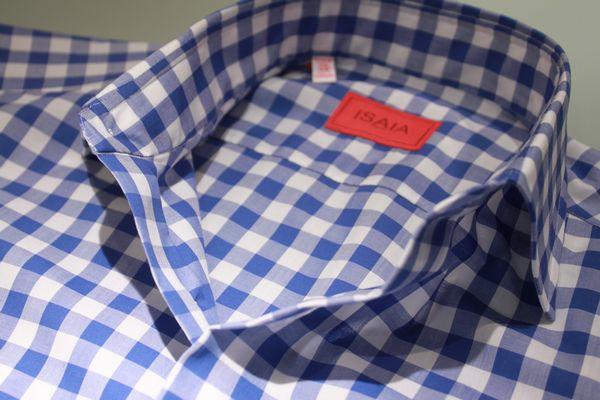 世界でgujiだけしかないドレスシャツ!<BR>ISAIA(イザイア)ワイドカラーFANO