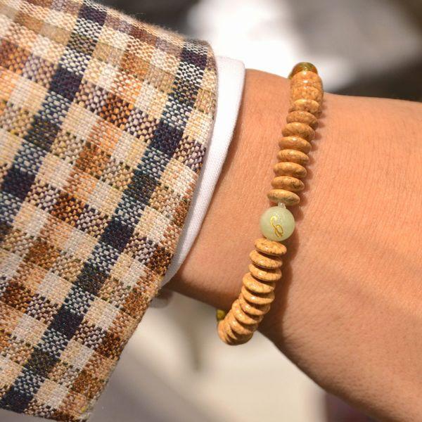 ホンマモンの数珠ブレス!<BR>安田念珠店 天竺菩提樹念珠&緑檀念珠&紫檀念珠