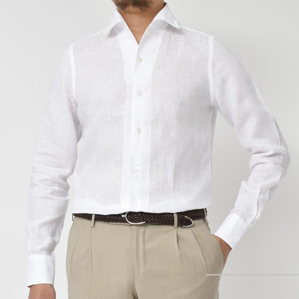 都市でも避暑地でも・・・<BR>Finamore(フィナモレ)オープンカラーシャツ ELBA(エルバ)