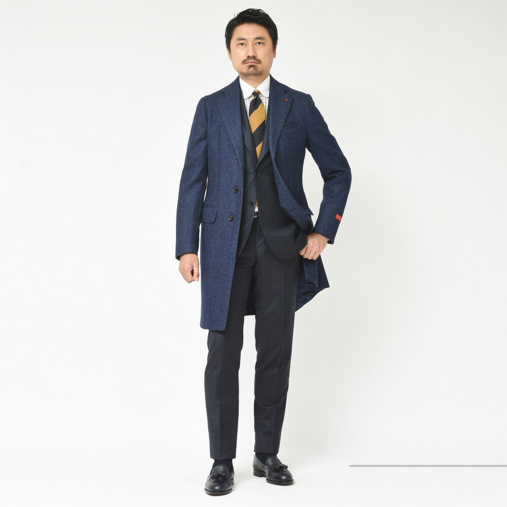 やっぱり王道(惚)<BR>ISAIA(イザイア)チェスターフィールドコート PORTOFINO & ポケットチーフ