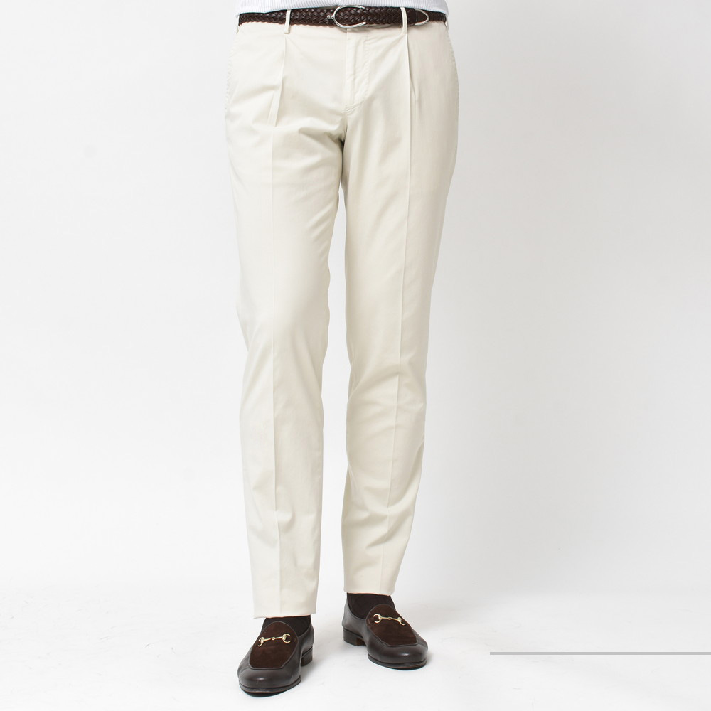 ボトムスも Cotton or Linen??<BR>INCOTEX(インコテックス)コットン1プリーツパンツ 1NGW24